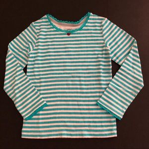 Carter's stripe top size 4 teal